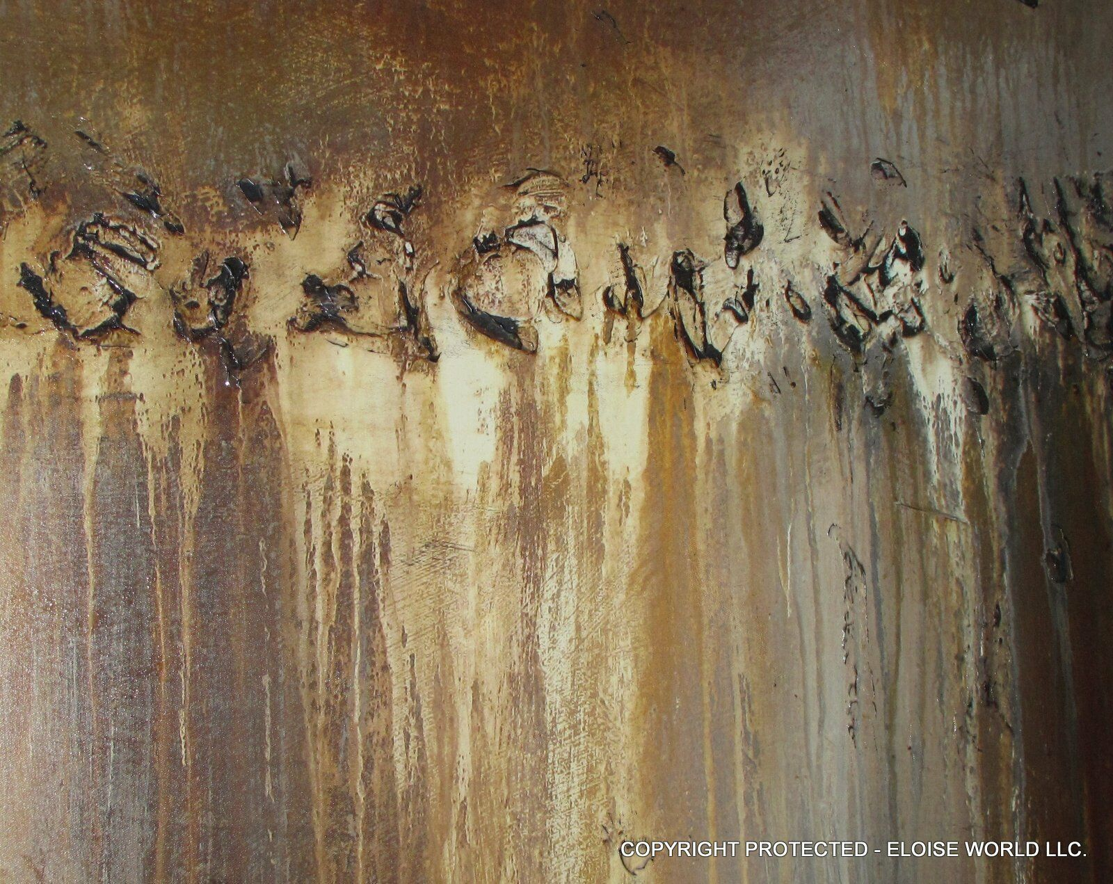 ABSTRACT PAINTING MODERN CANVAS WALL ART Large Framed Signed USA ELOISExxx - $199.00