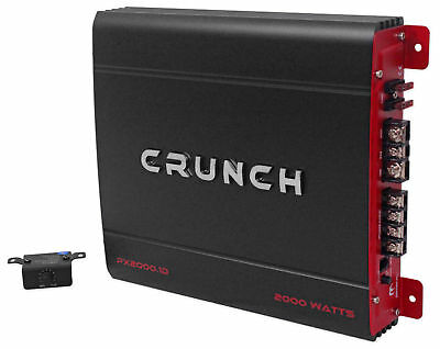 2000 Watt Mono Amplifier Amp (Crunch PX-2000.1D 2000 Watt Mono Powerful Car Audio Amplifier Amp)