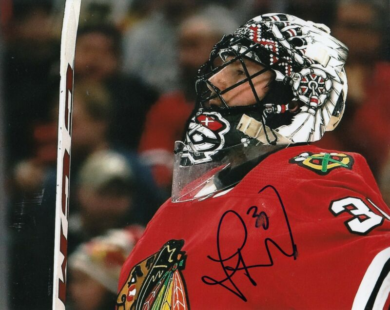 JEFF GLASS signed (CHICAGO BLACKHAWKS) autograph HOCKEY 8X10 photo W/COA #4