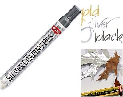 Mirror Finish Silver Metallic LEAFING PEN PAINT MARKER Calligraphy Chisel KRYLON