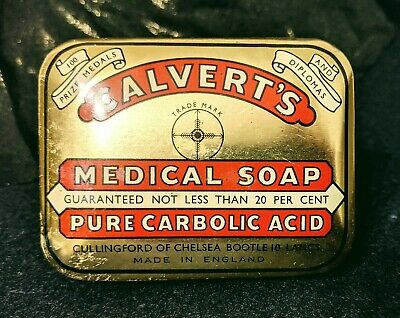 Vintage Calvert's Medical Soap Tin With Original Soap. Never Been Used