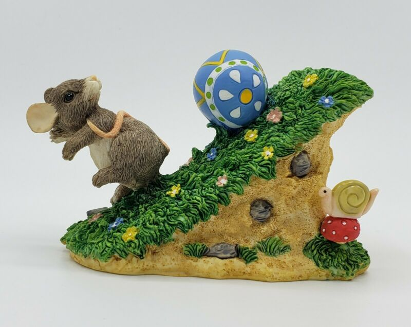 NEW Silvestri Charming Tails LOOK OUT BELOW Mouse Figurine Easter Egg Dean Griff