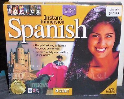 Instant Immersion Spanish Euro Method 4 Cd Roms Win 95 98 New Old Stock