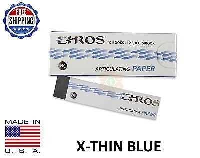Dental Articulating Paper Extra X-thin 0.0015 Blue 144 Sheets Made In Usa