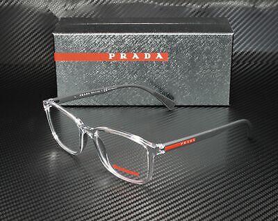 PRADA LINEA ROSSA PS 04IV 2AZ1O1 Transparent Demo Lens Men's (Prada Specs)