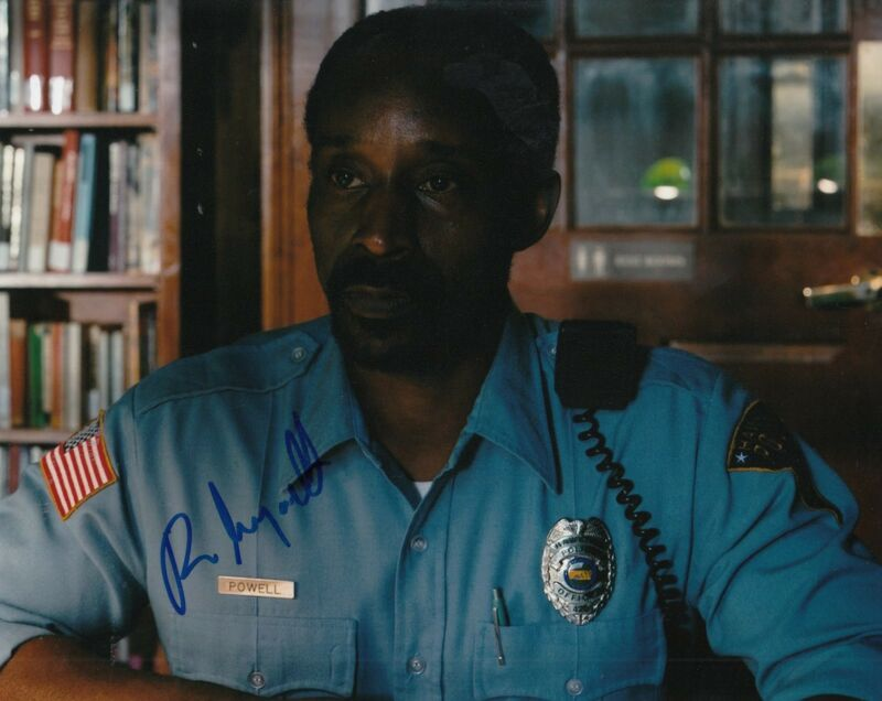 ROB MORGAN signed (STRANGER THINGS) 8X10 *OFFICER POWELL* photo W/COA #2