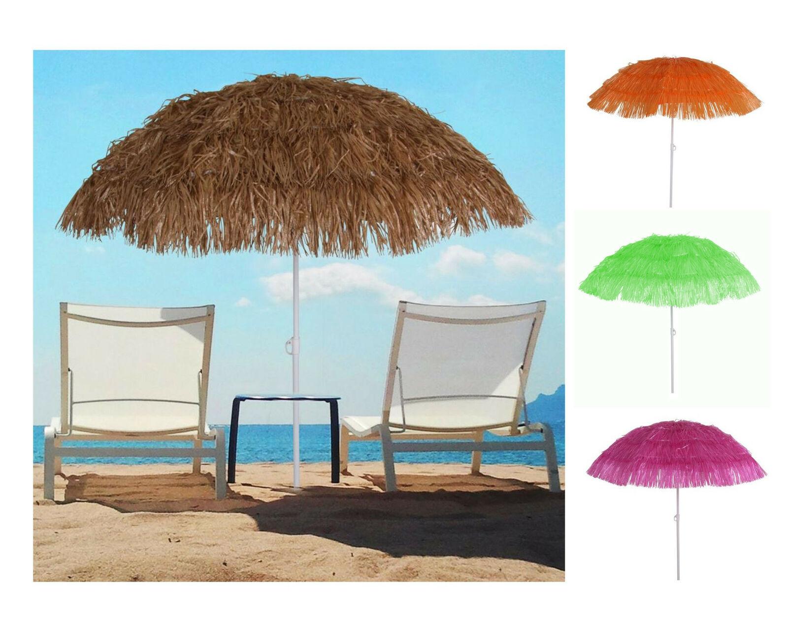 Sonnenschirm Hawaii Ø 160 cm Fransenschirm Strandschirm Fransen Hawaiischirm