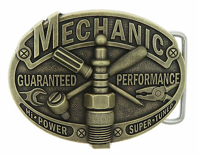 Mechanic Tradesman Bronze Plated Metal Belt Buckle