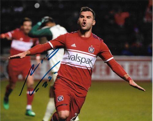 Chicago Fire Nemanja Nikolic Autographed Signed MLS 8x10 COA #4