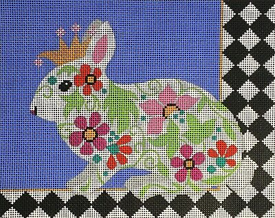 Needlepoint Handpainted Amanda Lawford REGAL BUNNY 10x8