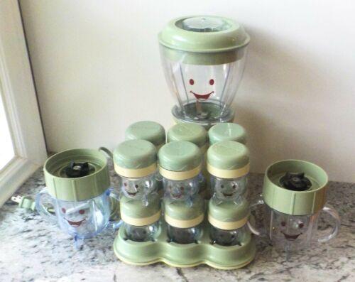 LOT - 17 PIECE Magic Baby Bullet Food Blender System (EUC)
