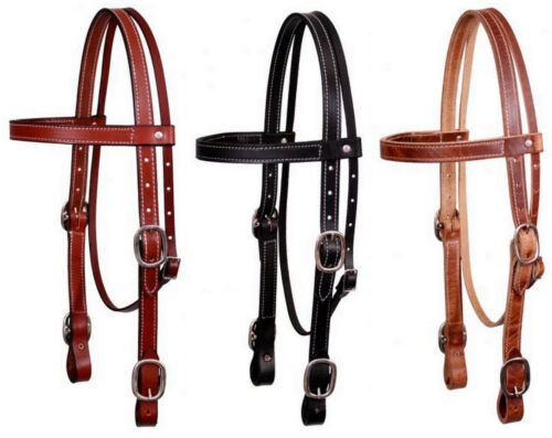 Draft Horse - X Large Horse Size Harness Leather Headstall Bridle Black or Brown