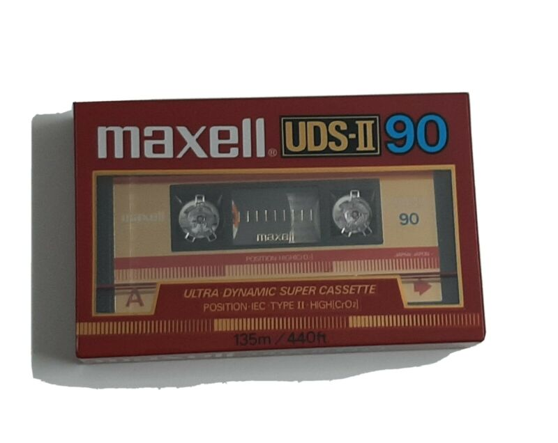 Maxwell New Sealed 1 Vintage Uds II 90 Blank Cassette Tape