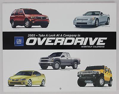 General Motors 2003 GM Overdrive Monthly Calendar