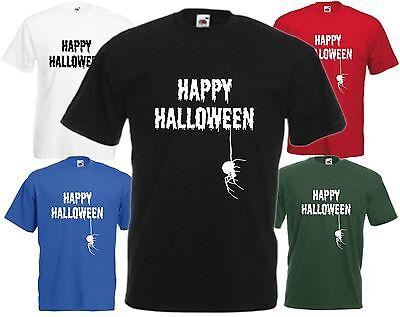 Happy Halloween Spinne T-Shirt Cool Insekten Gespenstisch Unheimlich Gejagter ()