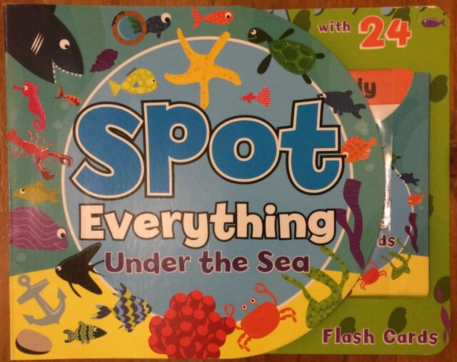 SPOT EVERYTHING UNDER THE SEA WITH FLASHCARDS ~ NEW BOARD BOOK