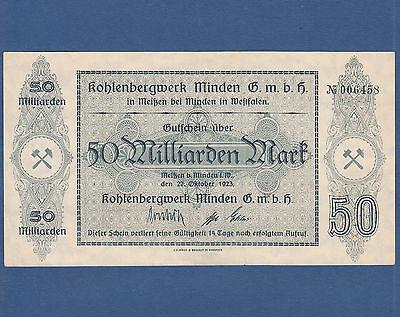 MEISSEN bei Minden Kohlenbergwerk 50 Milliarden Mark 1923 II / XF