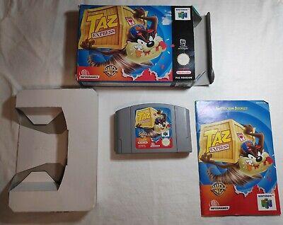 Taz Express Nintendo 64 N64 PAL Boxed Game With Manual and Box Protector