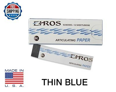 Dental Articulating Paper Thin 0.003 Blue 144 Sheets Made In Usa