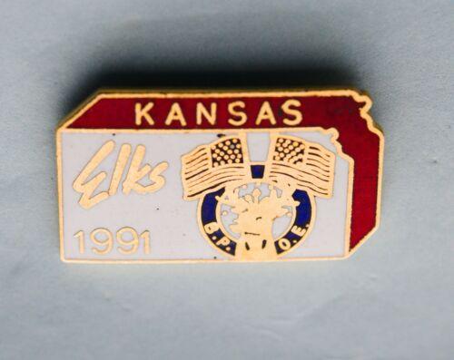 BPOE  KANSAS STATE ELK    PIN. VINTAGE 1991