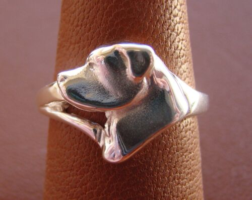Sterling Silver Rottweiler Head Study Ring