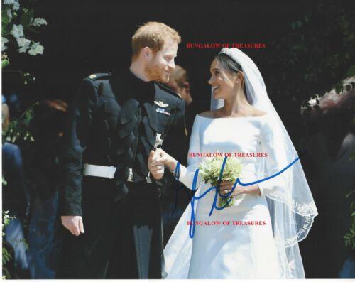 MEGAN MARKLE signed 10x8 color wedding photo