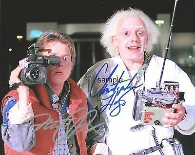 Michael J Fox Christopher Lloyd 2 Reprint 8X10 Signed Photo Back To The Future