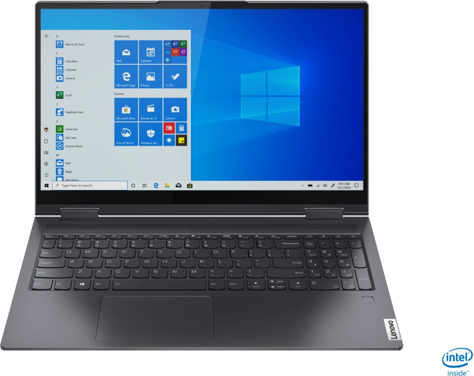 "Lenovo - Yoga 7i 2-in-1 15.6"" Touch Screen Laptop - Intel Core i5 - 8GB Memor..."