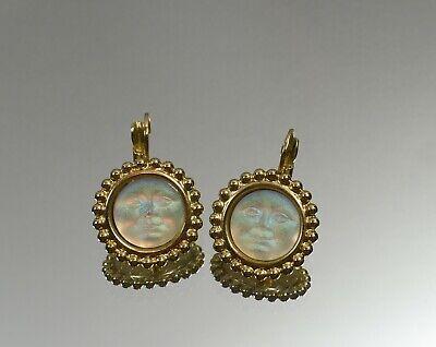 Beautiful Pair of  Kirks Folly Seaview Moon Lever Back Earrings ~ Very Pretty
