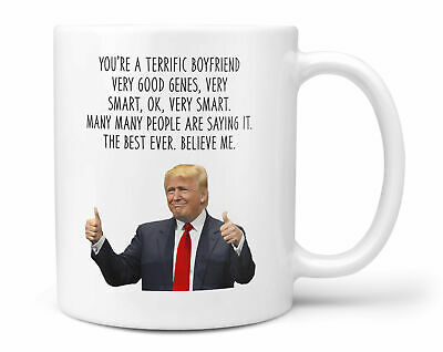 Donald Trump Boyfriend Coffee Hot Chocolate Mug Best Boyfriend 16th