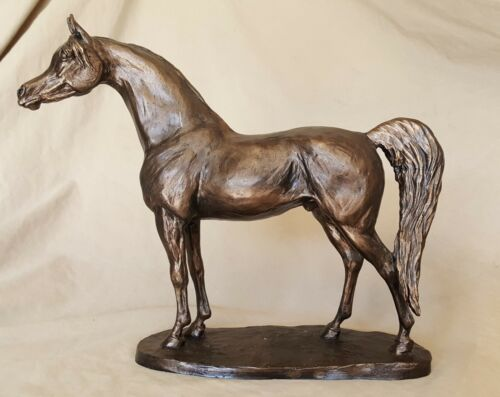 """Mirage"", faux-bronze Arabian Stallion horse sculpture,  trophy, award"