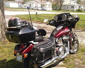 New Hard Motorcycle Trunk Luggage For Honda Shadow VTX W/Hardware&TailLight&Rack