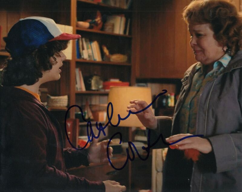 CATHERINE CURTIN signed (STRANGER THINGS) Claudia Henderson 8X10 photo W/COA #3