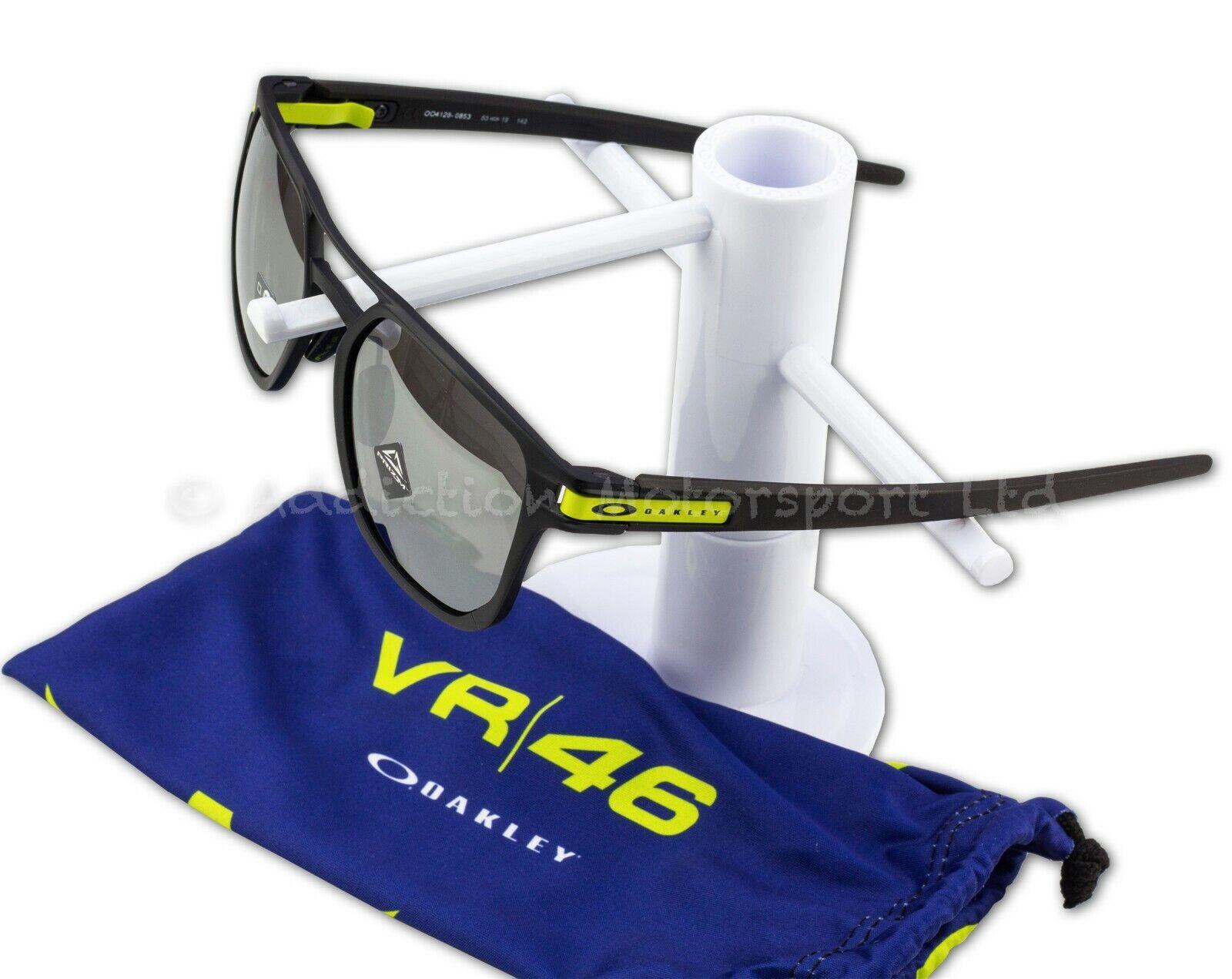 6e2cc2edb4af OAKLEY Latch Alpha Valentino Rossi VR46 Series MotoGP Sunglasses Matte  Black Frame, Prizm Black Iridium Lens - OO4128-0853