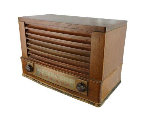 Vintage 1930s Admiral Tabletop Radio Wood Housing Not Working