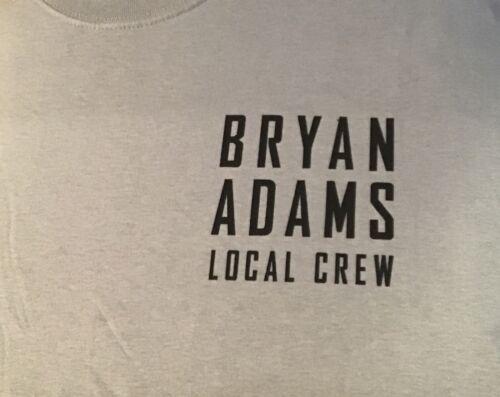 Bryan Adams 2019 Tour Local Crew T Shirt Gray