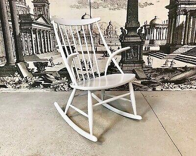 Danish Rocking Chair Illum Wikkelsø Niels Eilersen Schaukelstuhl 1950er 1950s