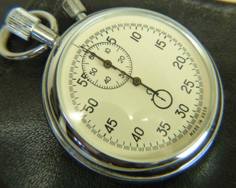 AGAT USSR Russian mechanical stopwatch in Box 16 jewels 4295A