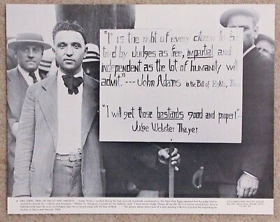 Vintage 11x14 Photograph Sacco and Vanzetti execution protesters in Boston 1928