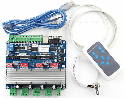 CNC USB 4 Achse axis Schrittmotor Endstufe /Steuerung Card+handhaben Controller