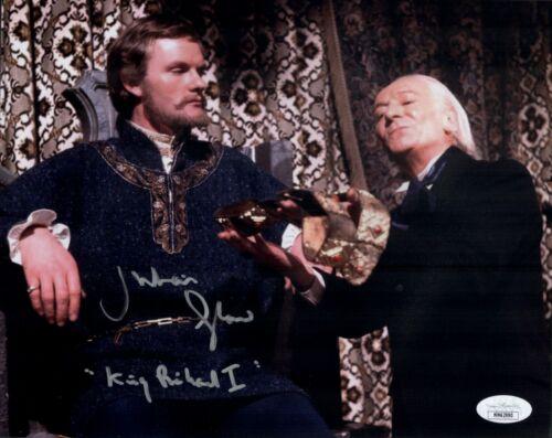 JULIAN GLOVER Signed 8x10 Photo DOCTOR WHO King Richard Autograph JSA COA Cert