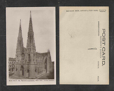 1910s ST PATRICKS CATHEDRAL NEW YORK RPPC REAL PICTURE POSTCARD Series 1020 A