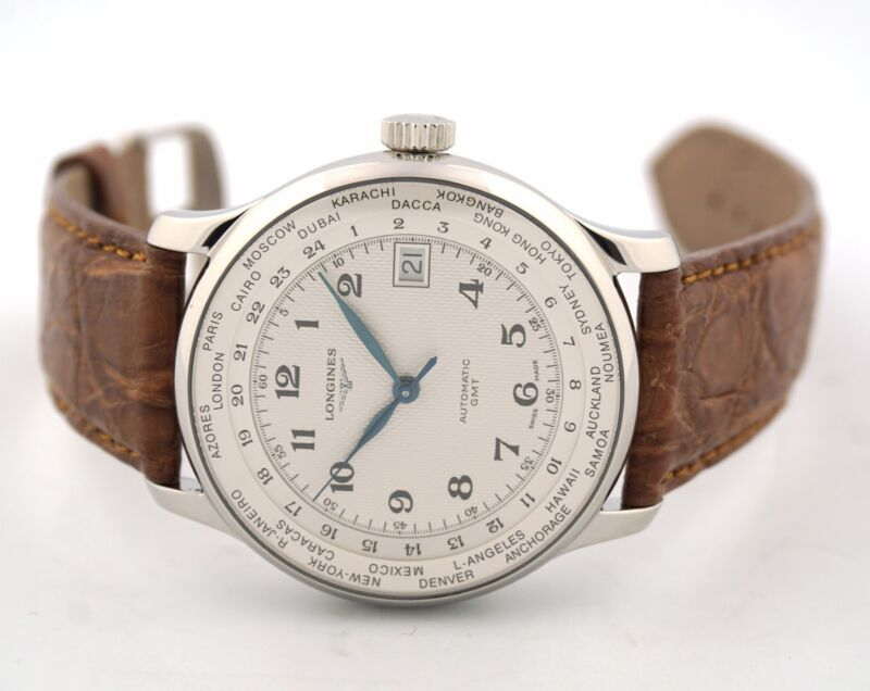 LONGINES MASTER AUTOMATIC WORLD TIMER L2.631.4.78.5 MENS WATCH - watch picture 1