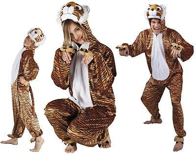 Tigerkostüm Löwe Löwen Lion Kostüm Overall Plüsch Tier Tiger Leopard Katze - Plüsch Katze Kostüm