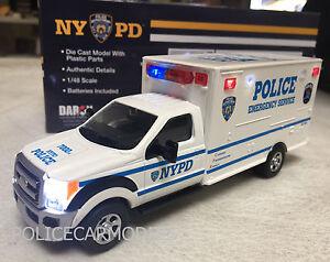 Daron 1/48 (O Scale) NYPD New York City Police ESU Truck w/ WORKING LIGHTS 71599