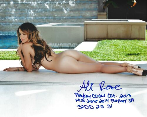 ALI ROSE PLAYBOY 10/2013 CYBERGIRL OF THE MONTH SEXY SIGNED PHOTO  (IN4)