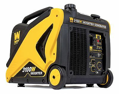 WEN 56310i 3100 Watt Inverter Generator with Built-in Wheels and Handle