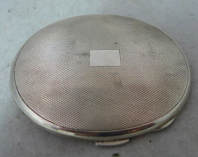 Antique Oval Silver Compact William Suckling Birmingham 1946 88g A602017