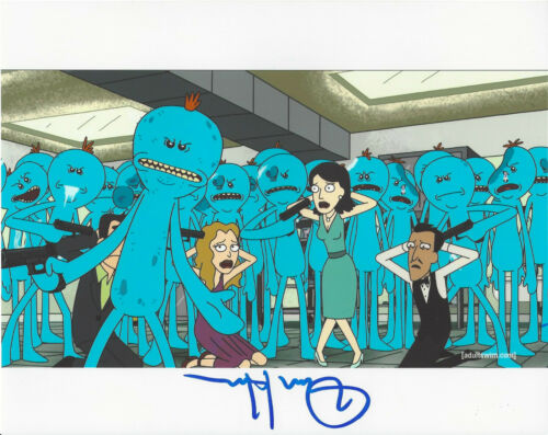 DAN HARMON - RICK AND MORTY CREATOR - SIGNED AUTHENTIC 8X10 PHOTO 14 w/COA PROOF