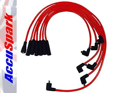 Ford V6 Cologne Engine 8mm AccuSpark Red Silicon Performance HT Lead set